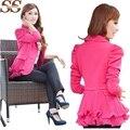 2017 Fashion Spring Blazer Size S-6XL Work Wear Jacket Women Long Sleeves Coat Candy Color Feminino Blazer Ladies Casual Top