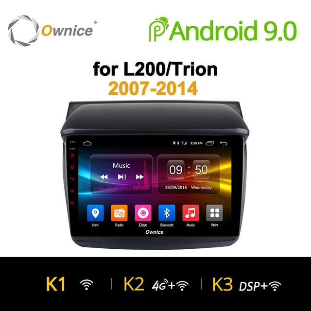 Ownice K1 K2 K3 アンドロイド 9.0 カーオーディオ三菱 L200 Trion 2007-2014 dvd gps プレーヤーナビゲーションヘッドユニット 8 コア 32 グラム ROM