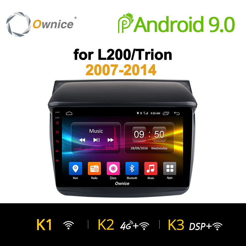 Ownice K1 K2 K3 Android 9.0 Car Audio FOR MITSUBISHI L200 Trion 2007 - 2014 dvd gps player navigation head unit 8 Core 32G ROM