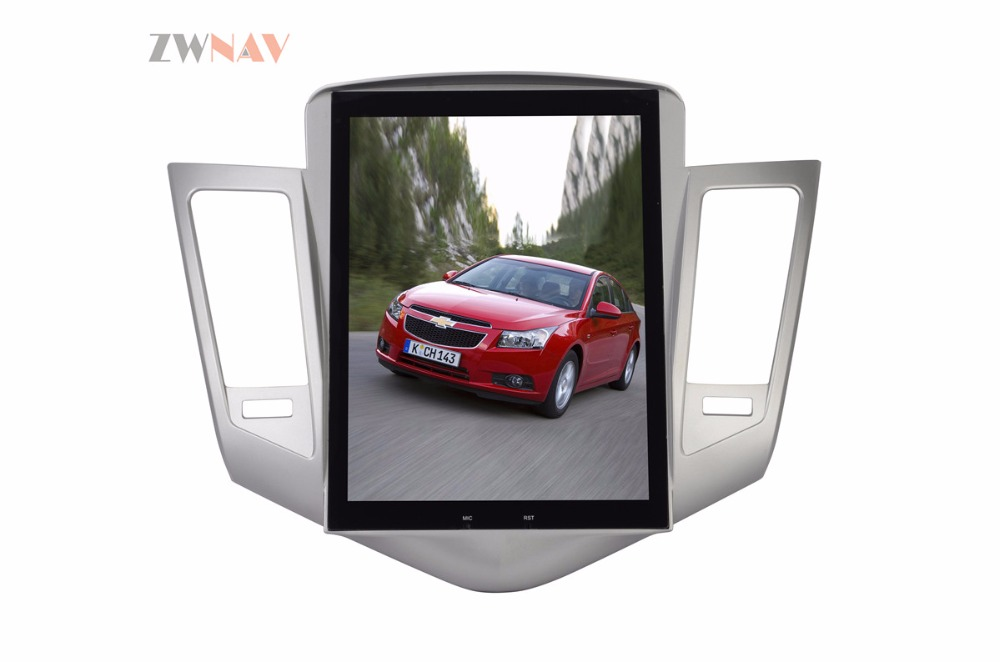 ZWNVA Tesla style Screen Newest Android 6.0 64+2GB Car DVD Player GPS Navigation Radio Screen For CHEVROLET CRUZE 2009-2013