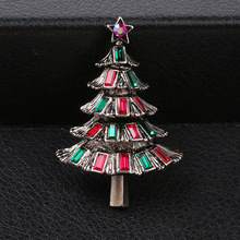 CINDY XIANG Colorful Crystal Christmas Tree Brooches for Women Vintage Exquisite Pins Gift Sweater Dress Accessories Jewelry
