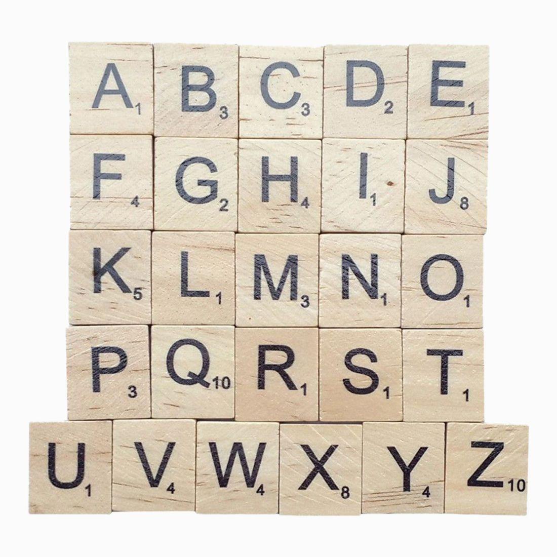 Fbil-300 дерево царапают Плитки-Новый Эрудит буквы-деревянные части-отличный вариант для кораблей, Подвески, правописание