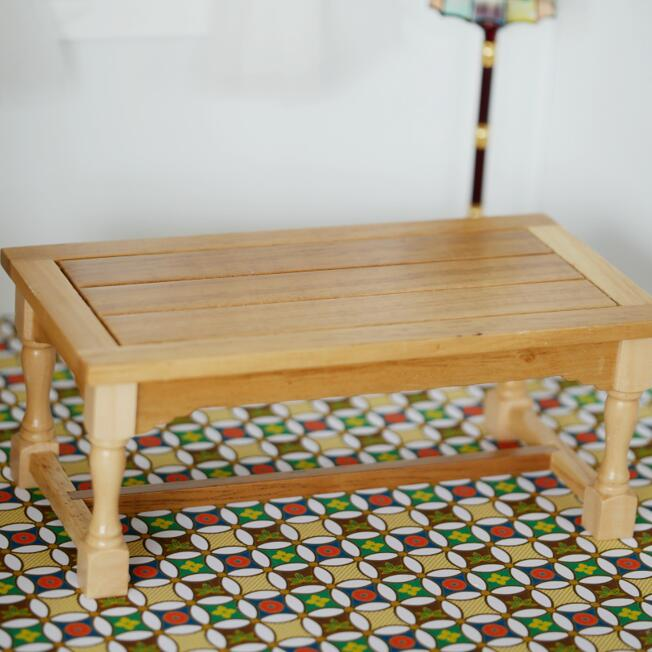 Us 5 49 New Miniature Dining Table Dollhouse Kitchen Wooden Furniture Handcrafted 1 12 Scale In Toys From Hobbies On Aliexpress