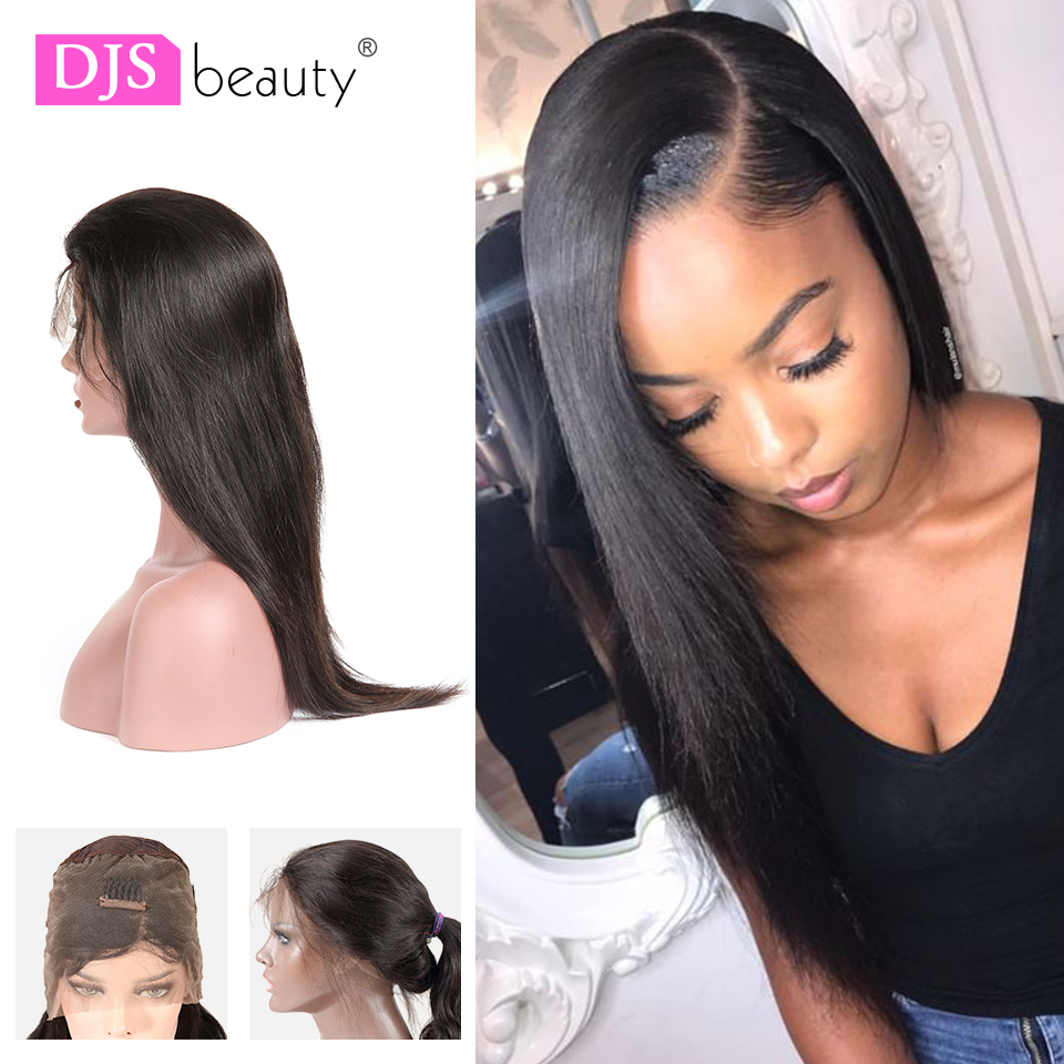 360 Lace Frontal Wig Pre Plucked With Baby Hair 250 Density 26 Inch Remy Lace Front Human Hair Wigs For Black Women DJS Beauty