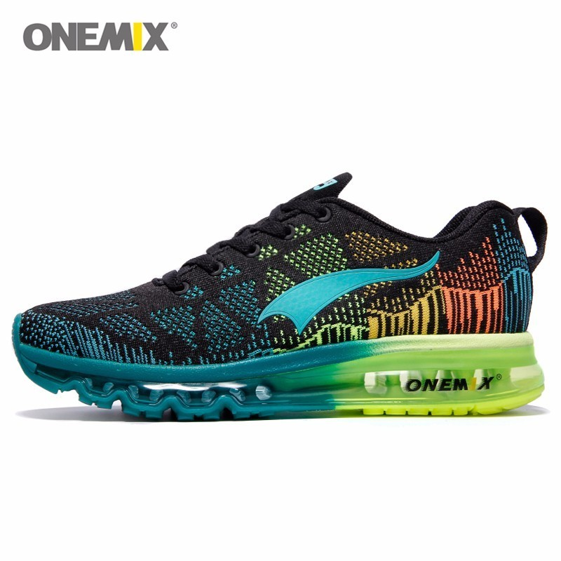 Onemix Brand Running Shoes Men Light weight Athletic Sneakers Mesh Breathable Sport Trainers For Man Music Rhythm Max Size 12 onemix mens running shoes with 4 colors breathable mesh stylish athletic sport shoes for men sneakers eur size 39 45 1118 1