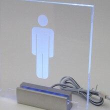 12 см длинный атласный Серебряный алюминиевый пантент светящийся светодиодный зажим, светящиеся знаки для стеклянного акриловый хомут для рекламы