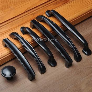 Classic Black 10PCS European American Kitchen Cabinet Door Handles Cupboard Wardrobe Drawer Wine Cabinet Pulls Handles and Knobs