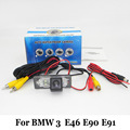 Car Rear View Camera For BMW 3 E46 E90 E91 / RCA Wire Or Wireless / Water Proof / HD Wide Lens Angle / CCD Night Vision Cameras
