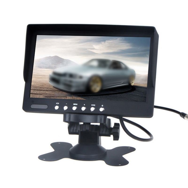TOSPRA 1Pcs 7 Inch LCD Color Screen Car Rear View Monitor With Remote Can Be Be