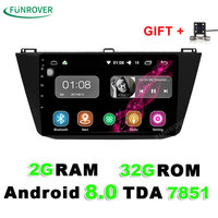 Funrover 2G 32G 2 Din Android 8 0 Car Dvd For VW Volkswagen Tiguan 2017 2018