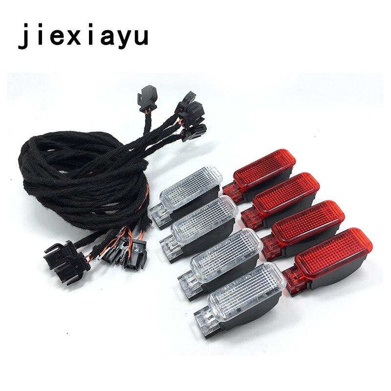 8 PCS OEM porte avertissement lampe câble Pour A3 A4 A5 A6 A7 A8 Q3 Q5 TT 8KD947411 8KD 947 411 8KD947415 8KD 947 415