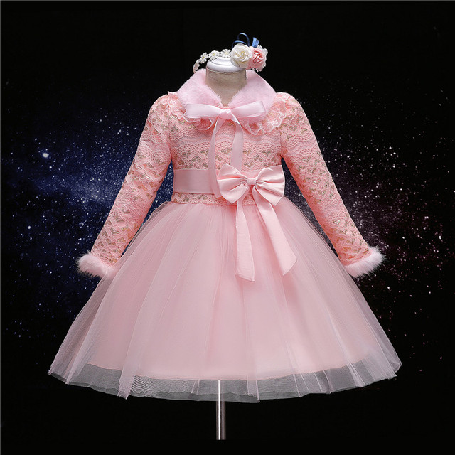 winter heart plus thick girl tulle dress kids teenagers clothes ...