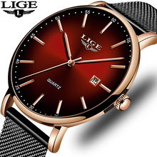 NEW Relogio Masculino LIGE Fashion Mens Watches Top