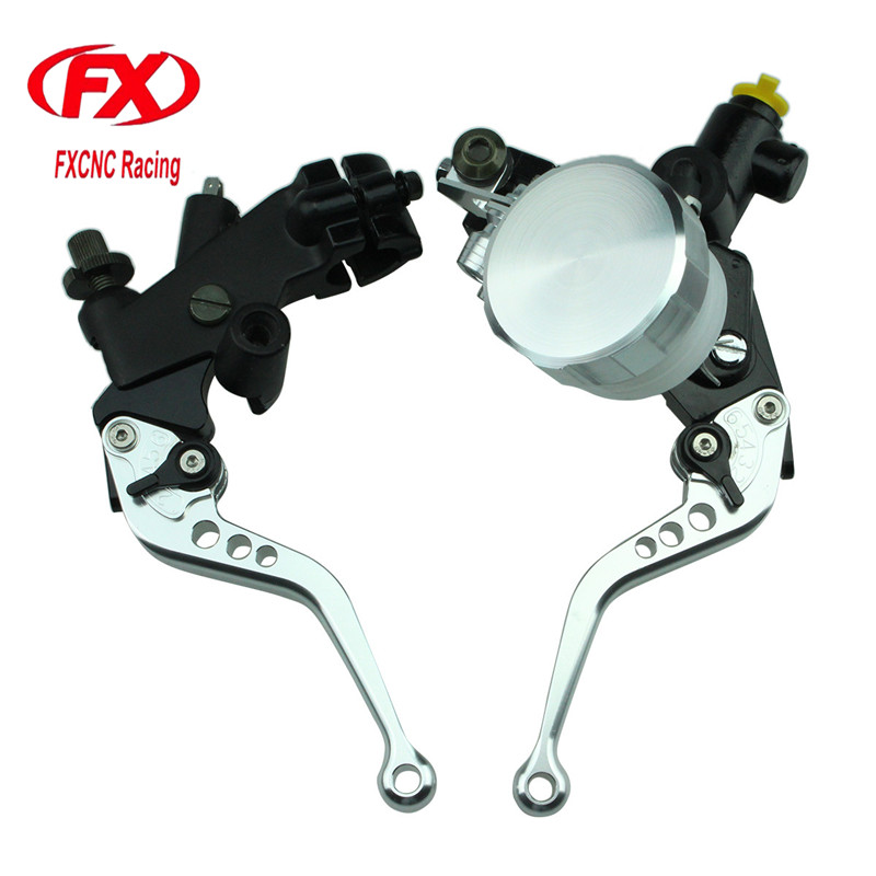 FX 125-600cc Motorcycle Brake Clutch Levers Master Cylinder Hydraulic Brake Cable Clutch For Honda CBF125 2009 - 2013 2012 11 10 adjustable long folding clutch brake levers for kawasaki z1000 07 08 09 10 11 12 13 14 15 z1000sx tourer 2012 2013 2014 2015
