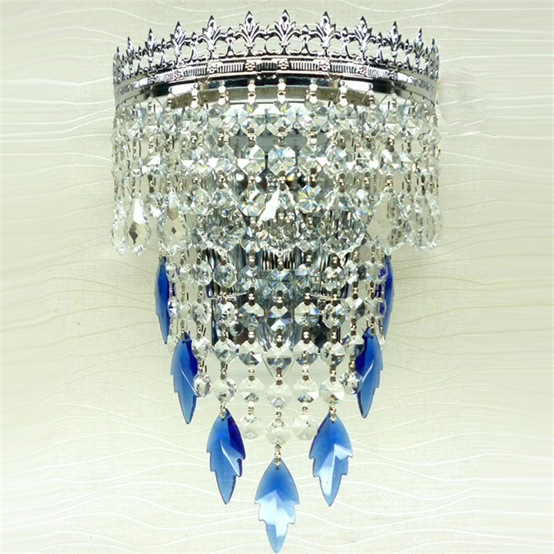 blue crystal lamps