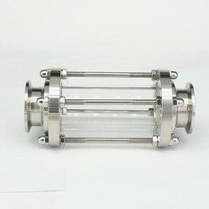 """Image 2 - Anti corrosão diopter estável polimento multiuso vista fluxo de vidro encaixe sanitário de aço inoxidável 1.5 """"tri braçadeira"""