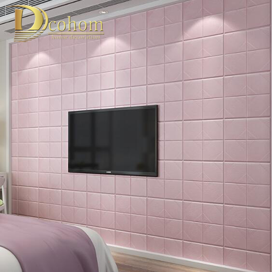 PE Foam 3D Wall Paper Stickers Safty Home Decor DIY Self