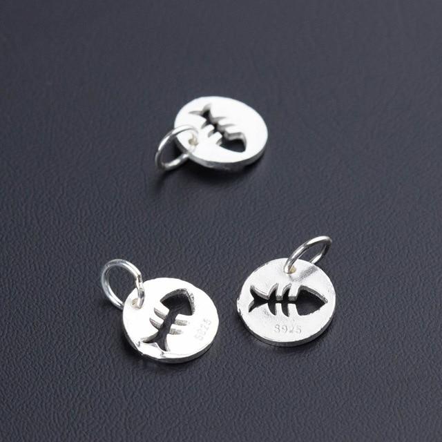 Uqbing 100% круглые рыболовные шармы в виде монет из серебра