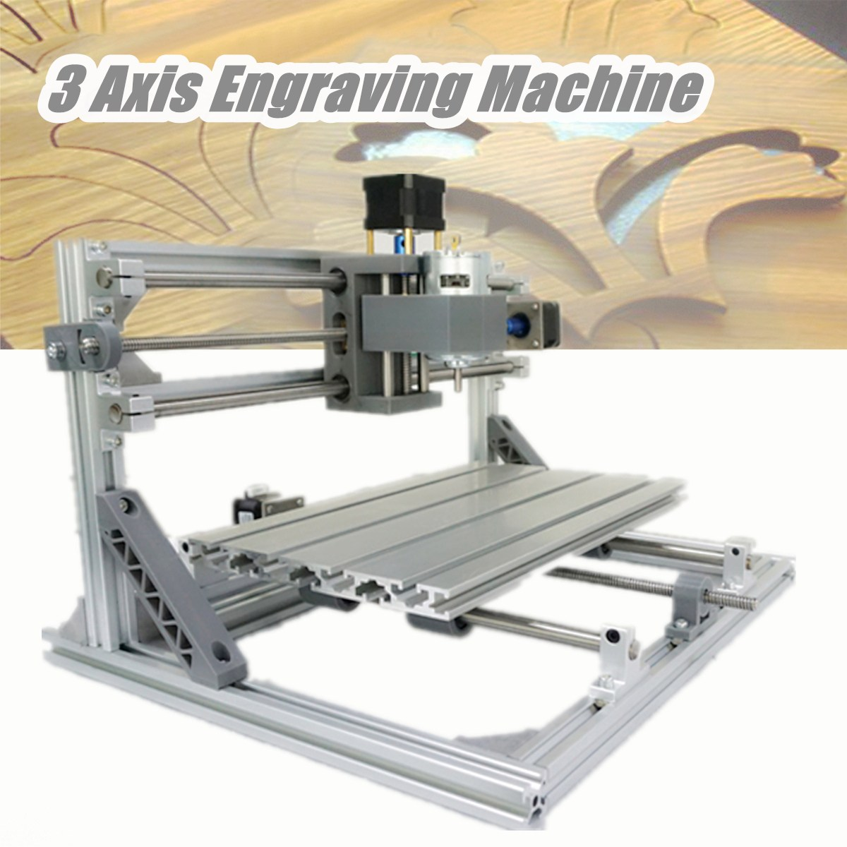 DIY Mini CNC Router Laser Machine 3 Axis 3018 ER11 GRBL Control Pcb Pvc Milling Wood Router Wood Router Laser Engraving