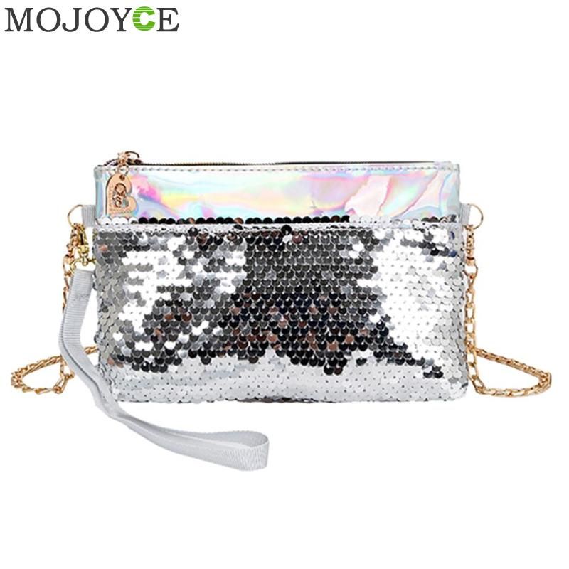 Shining Women Sequins Evening Crossbody Clutch Bag Chain Shoulder Handbag  Messenger Party Bag Features  The fashion version of the type concise but  not ... 2bcaf4212c4c