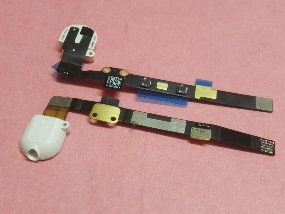 50pcs Ear Headphone Audio Jack port Flex Cable Ribbon for ipad mini 3 2 A1599 A1600 A1489 A1490 mini3 mini2 earphone white black