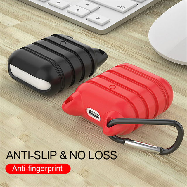 Silicone case for airpods earphones sleeve protective case anti-lost case charging box soft sleeve for airpods original cases
