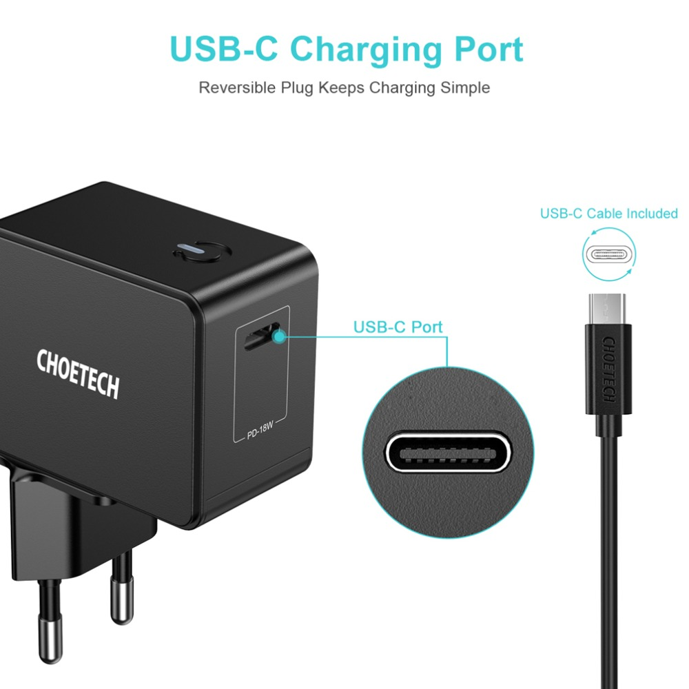 18W Fast Charging Wall USB type C Charger Adapter For Xiaomi redmi Note 7 Mobile Phone charger For iphone Samsung Huawei