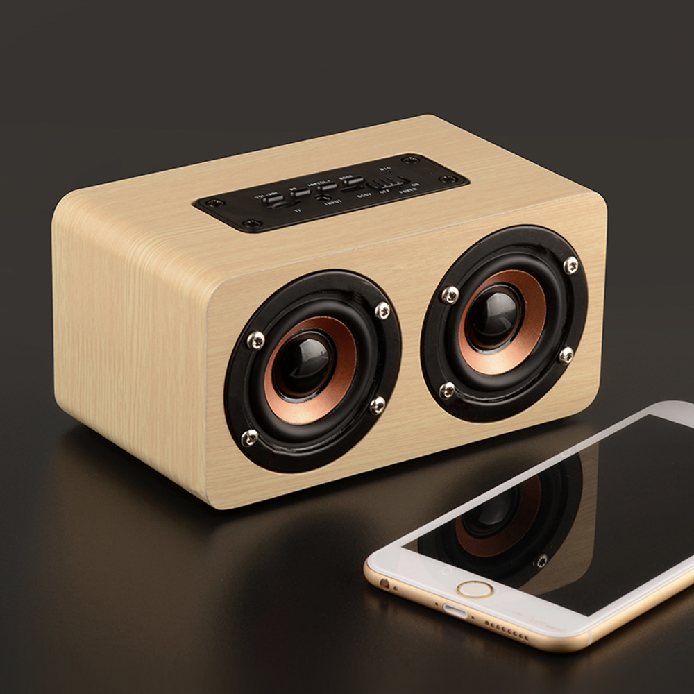 Wooden Wireless <font><b>Bluetooth</b></font> Speaker Portable HiFi Shock Bass support TF <font><b>caixa</b></font> <font><b>de</b></font> <font><b>som</b></font> Soundbar for iPhone Sumsung <font><b>Xiaomi</b></font>