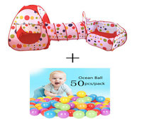 3 In 1 Kids Tent Pipeline Crawling Huge Game Play House Baby Play Yard Ball Pool