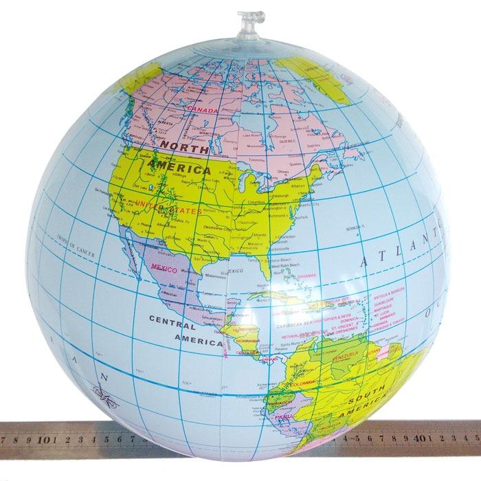 2018 мода надувные мира Глобусы классе бассейн 40 см мяч Пособия по географии образование учебные пособия Географические карты детские Игруше...