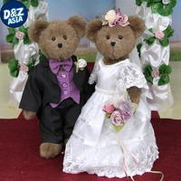 Teddy bear wedding couple bear dress doll stuffed animals wedding gift