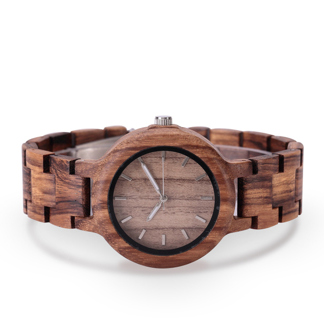 GNART Wooden Watches relojes para mujer Women 2018 Wood Watch Fitness Watch for Ladies Brown Relogio Feminino                    2