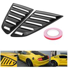 1Pair Window Louver Scoop Cover Vent Left & Right Side for Ford Mustang 2015 2016 2017 Glossy Black(China)