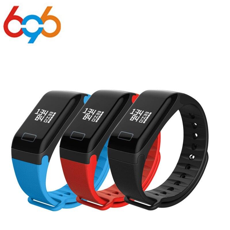 696 F1 Smart Band oxígeno arterial Presión arterial relojes fitness Sport pulsera ritmo cardíaco Monitores llamada/SMS recordatorio PK fitbits MIB