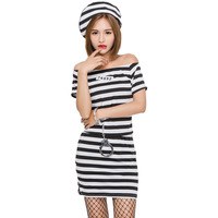 Female Prisoner Cosplay Halloween Game Play Costume Performance Costume Exotic Clothes Fantasic