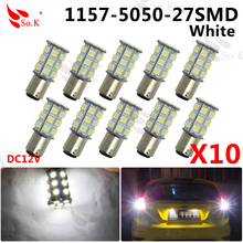 10x Strong Bright 27 SMD 5050 LED 1157 BAY15D Car Tail Turn Signal Brake Parking Backup