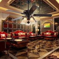 LED Fan Light American Retro Living Room Dining Room Chandelier Mute Strong Wind Fan Light Industrial