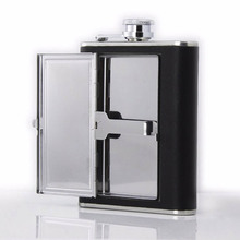 Hip Flask with Cigarette Case