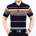 New 2017 Summer Style Striped Classic business men polo shirt Loose New Brand Men's Polo Shirt For Men Cotton Short Sleeve