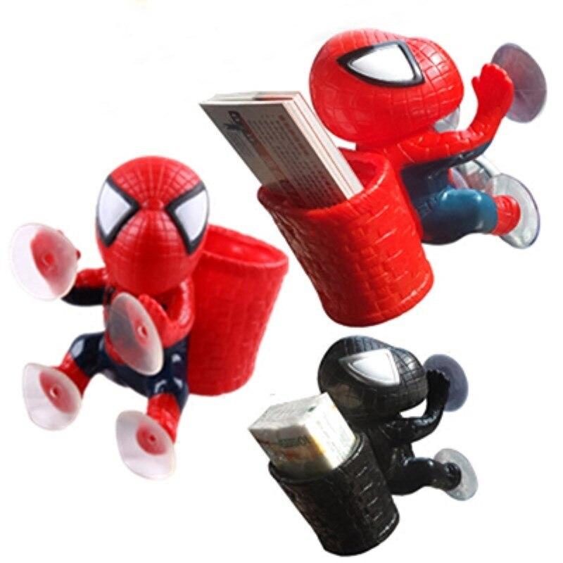 Spider Man action figure window sucker toy decoration spiderman Black /& Red