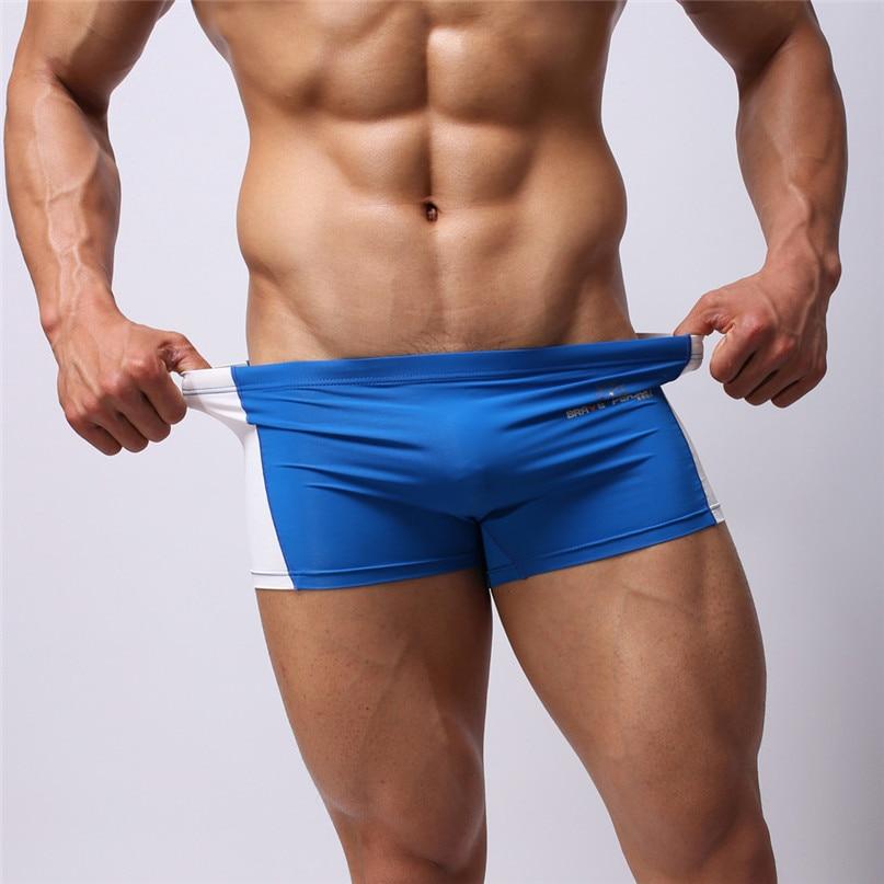 Swimwear Briefs Boxer-Shorts Trunk Beach-Underwear Quick-Drying Sexy Mens New -2j19 Running
