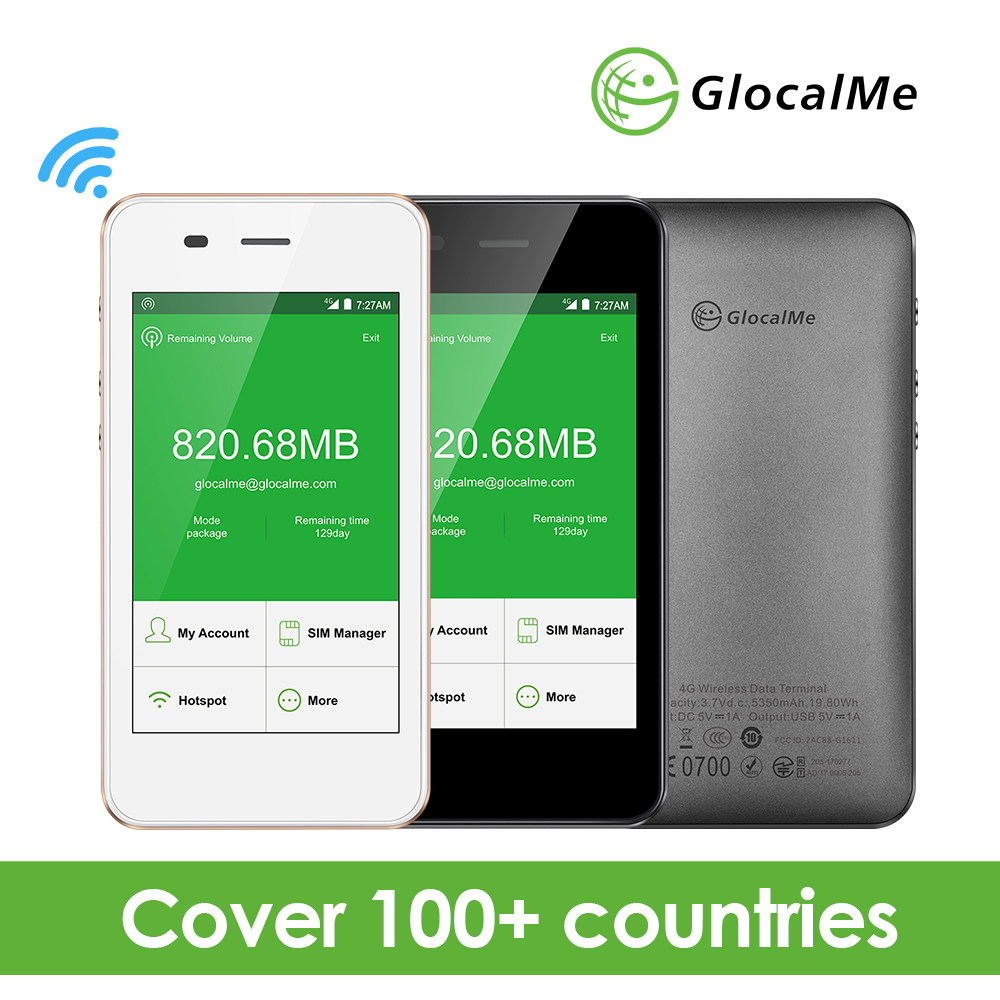 GlocalMe 4G LTE Globale Pocket Wifi Router Wireless con 1 GB Dati Nessuna Carta Sim in Roaming Mifi Nuovo