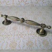 Manijas de muebles vintage de 128mm, latón antiguo, Alacena mueble de cocina, tirador de cajón de bronce, perilla de tirador de 5