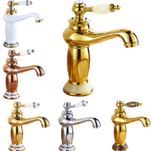 Best Quality Single Handle Brass Vanity Sink Faucet Deck Mounted Bathroom Washing Basin Hot Cold Taps