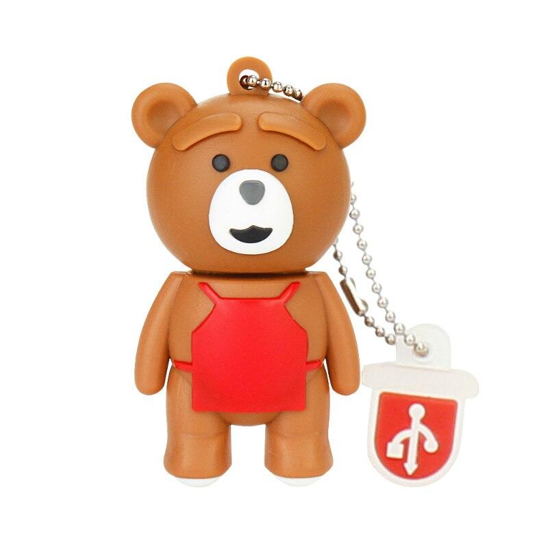 Cute Bear Baby Usb Flash Drive 4GB 8GB 16GB 32GB Pen Drive 64GB 128GB USB 2.0 Cartoon Usb Stick Best Gift U Disk Free Shipping