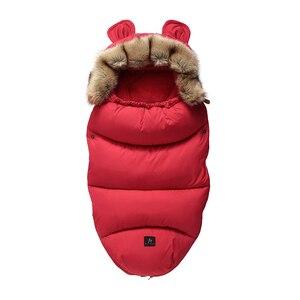 Image 2 - Kış bebek arabası uyku tulumu Yoya artı Yoyo Vovo kış sıcak Sleepsacks bornoz bebek tekerlekli sandalye zarflar yenidoğan ayak