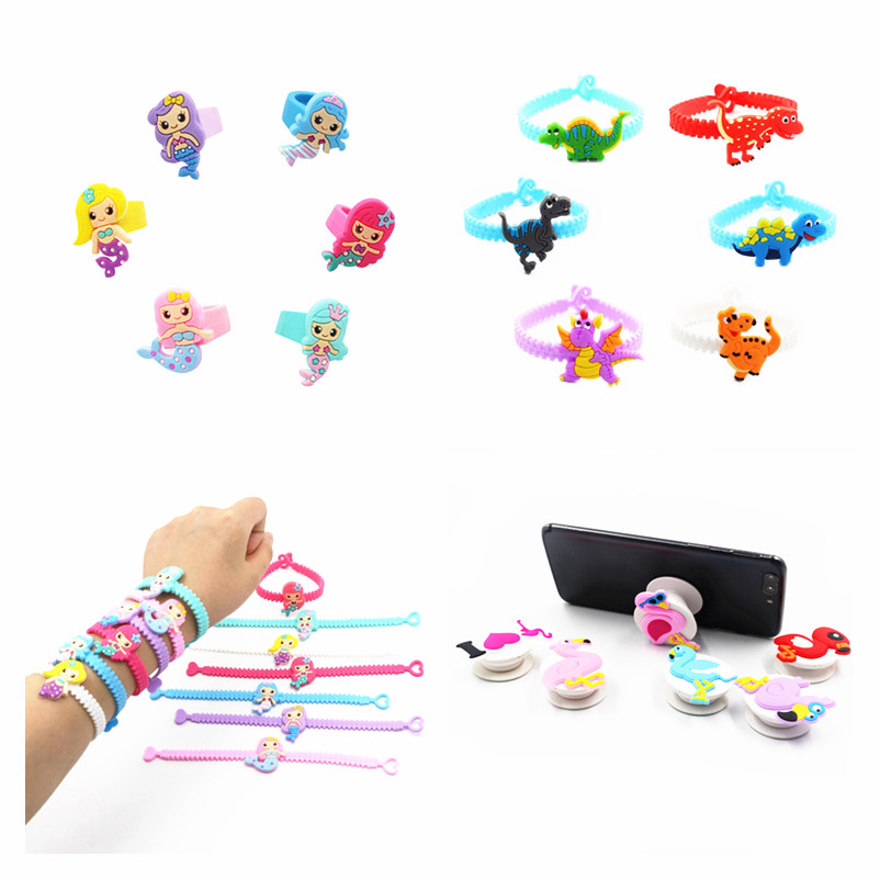6pcs Rubber Ornaments Wedding Gift for Guests Personalized Unicorn Party Kids Favors Baby Shower Souvenirs Gifts