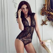 a40fd5f86 Shapers Bordados Rendas transparente Conjunto de Roupa Interior Fina Das  Mulheres Bodysuit Lingerie Plus Size Emagrecimento