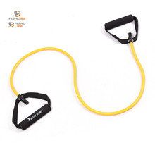 resistance stretch band tube yoga pilates fitness muscle exercise workout yellow band for wholesale and free shipping