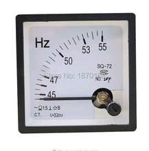 SQ-72 45-55Hz AC 100V / 220V / 380V analógico Panel medidor frecuencia Indicador de Hertz para sistema de vigilancia
